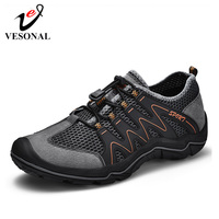 2019 New Fashion Casual Mesh Outdoor Hiking Shoes Men Sneakers Comfortable Breathable Walking Men Shoes Male Footwear