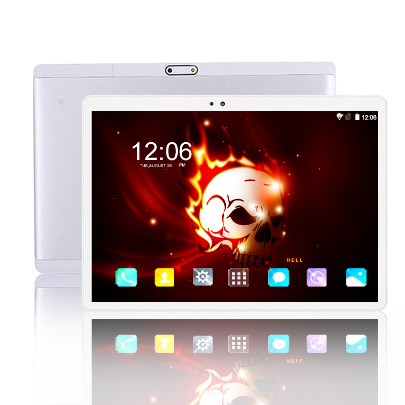 2.5D écran trempé 10 pouces tablette PC 1920*1200 IPS Android 8.0 RAM 6GB ROM 64GB 4G appel téléphonique WIFI tablettes 5G WIFI 8MP caméra