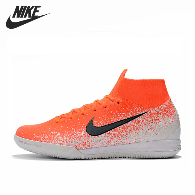Nike Mercurial SuperflyX VI <font><b>360</b></font> Elite IC Football Cleats Boot Women Indoor Soccer <font><b>Shoes</b></font> Zapatos De Futbol Hombre Tacos De image