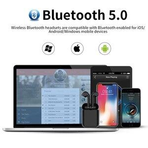 Image 5 - Langsdom T7R ミニ bluetooth イヤホンワイヤレスヘッドフォンと充電ボックスステレオ真インナーイヤー型ヘッドセットイヤホン fone のデ ouvido