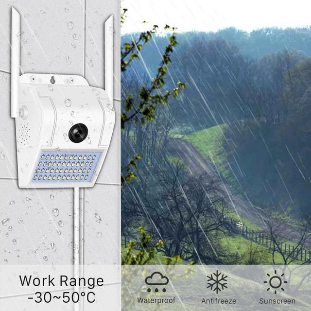 1080P sans fil IP caméra applique sécurité extérieure bidirectionnelle Audio projecteur couleur Vision nocturne Wifi caméra V380 4