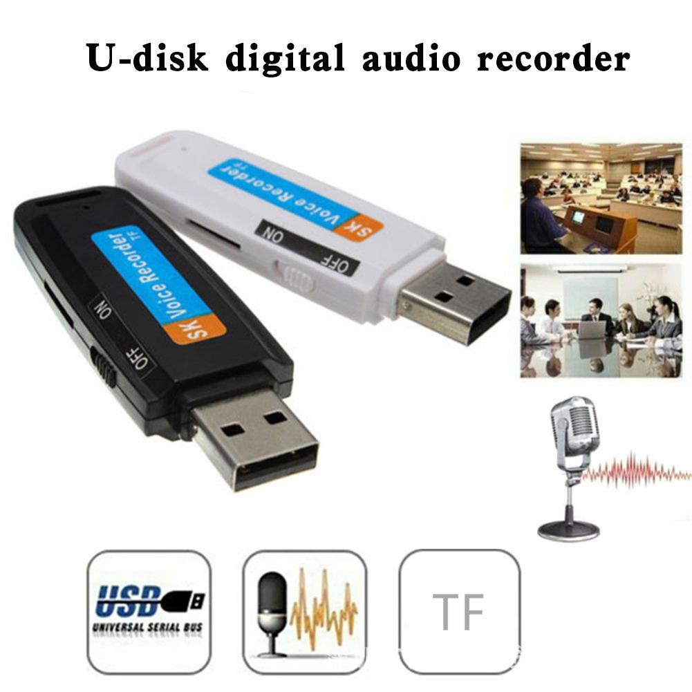 Дропшиппинг Портативный Перезаряжаемый USB 2,0 U диск цифровой Аудио Диктофон записывающая ручка перезаряжаемый диктофон