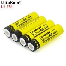 LiitoKala 18650 Battery Lii 35S 3.7V Li ion 3500mAh 10A discharge Power battery For high drain devices