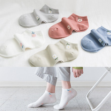 10 Pair Women Solid Flower Socks cotton Female Retro Casual Style Candy colors Floral Socks Breathable 10 pair women solid socks combed cotton female retro casual style candy colors socks breathable