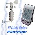 433 МГц Беспроводная метеостанция часы скорость ветра датчик направления температуры UD88