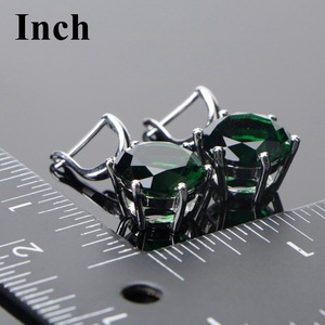 Image 4 - 925 Sterling Silver Wedding Jewelry Sets Women Earrings Bridal Green Zircon Stones Jewelry Bracelet Rings Pendant Necklace Set