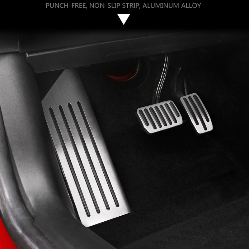 Aluminum alloy Foot Pedal For Tesla Model 3 Accelerator Gas Fuel Brake Pedal Rest Pedal Pads Mats Cover Accessories Car Styling