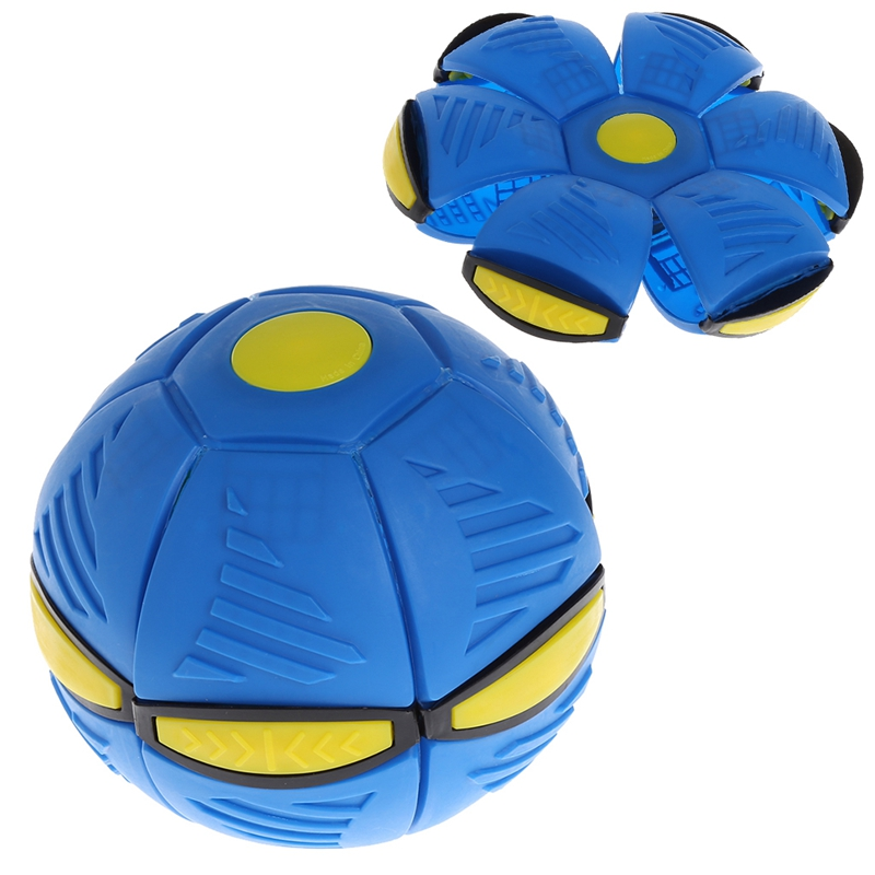 Flying UFO Flat Throw Disc Ball With LED Light Toy Kid Outdoor Garden Basketball Game