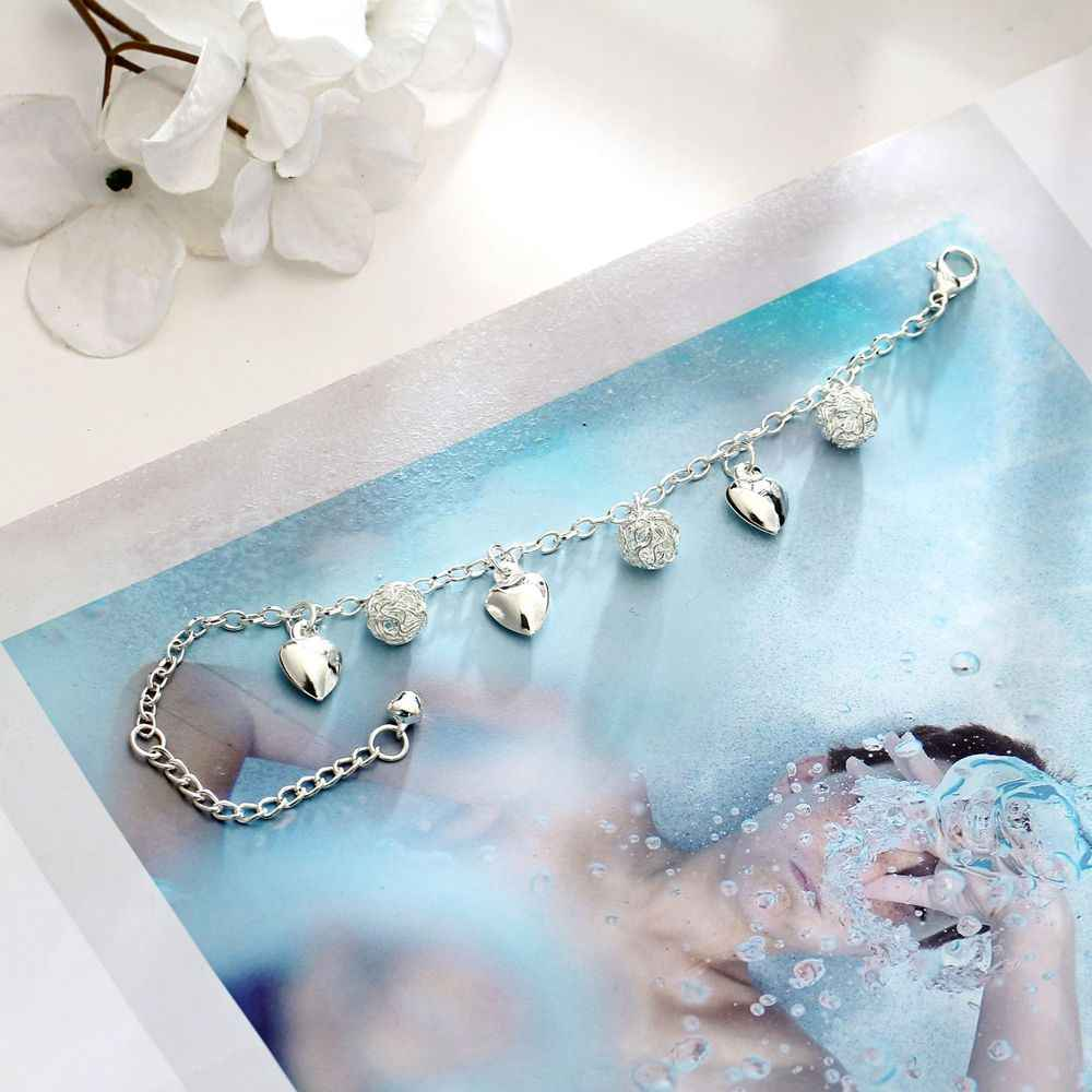 1 шт. новые модные ножные браслеты «сердце» Для женщин посеребренный Бохо Браслет-подвеска на ногу браслет, украшение, подарок