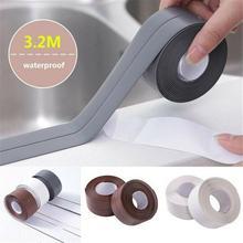3.2M New Bathroom Shower Sink Bath Sealing Strip Tape White PVC Self adhesive Waterproof Wall sticker for Bathroom Kitchen