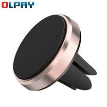 Suporte do telefone magnético do carro redondo universal portátil tomada de ar gps titular alumínio alloymagnetic telefone móvel titular