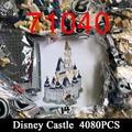 Building Blocks Bricks 71040 4080PCS 16008 Compatible Cinderella Princess Castle City Model Toys Kids Birthday Christmas Gift