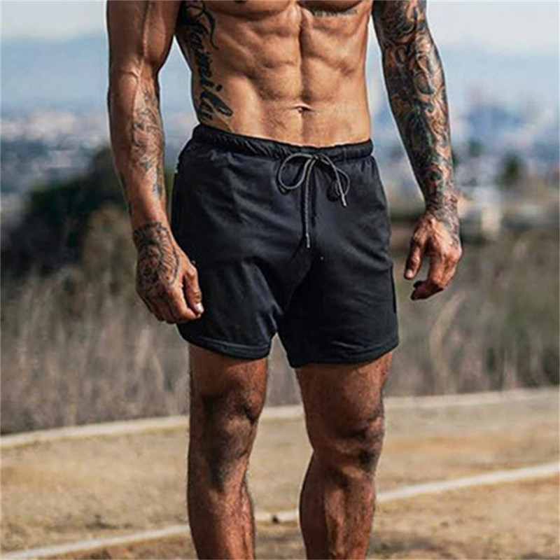 2020 NEW gym Fitness Shorts Men Running single-deck Workout Male Breathable Mesh Quick Dry sport shorts Jogger Beach Short Pants