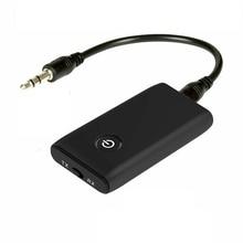 Yeni 2 in 1 Bluetooth 5.0 verici alıcı TV PC araba hoparlörü 3.5mm AUX Hifi müzik ses adaptörü