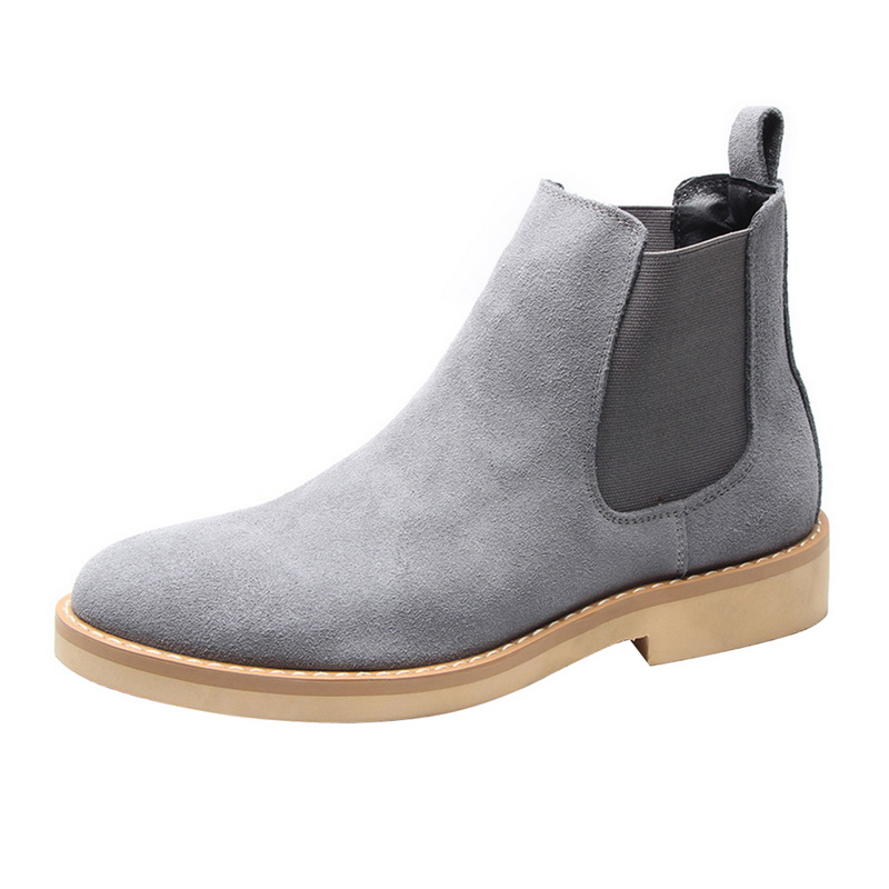 NEW Chelsea Boots Man Ankle Boots Fashion Plus Velvet High-top Boots Outdoor Walking Shoe Wear Resistant Casual Shoes Boy