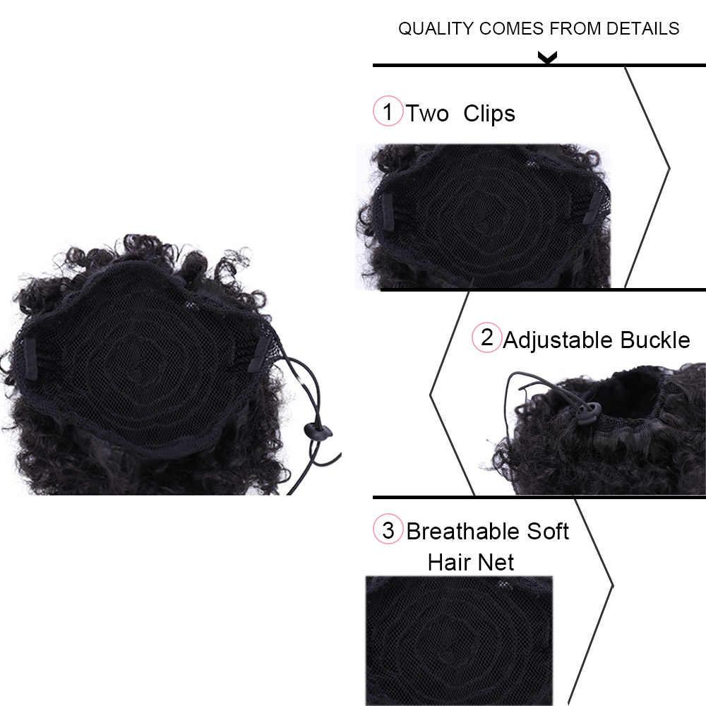 Weilai Synthetische Chignon Broodjes Jongen Pruik Haar Accessoires Meisje Balerina Postiche Cheveux Afro Bladerdeeg Pruiken Voor Zwarte Vrouwen Paardenstaart