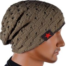 Snow-Cap Knit Beanie Skull Warm Unisex Hat Reversible Baggy Women New-Fashion for Chunky