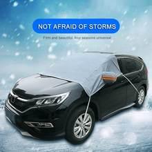 Carro pára-brisa capa sol sombra protetor inverno espessamento anti-geada anti-congelamento neve vidro capa de proteção do carro guarda