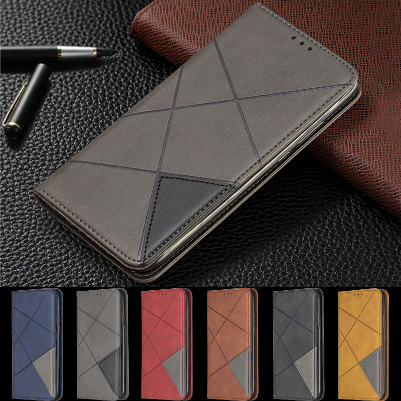 Magnetic Leather Slim Case na For Samsung Galaxy A70 A50 A40 A30 A20 A10 A20e A10e A7 2018 2019 Flip Stand Business Phone Cover image