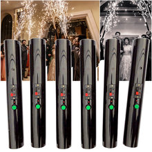 6pcs Hand Held Pyro Shooter Pyrotechnic Cold Spark Firing System Wedding Bride Surprise Creative Firework Magic Wand Decor Party