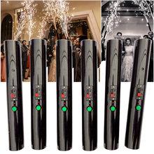 6 pçs mão realizada pyro shooter pirotecnia faísca fria sistema de queima casamento noiva surpresa criativa fogos de artifício varinha mágica decoração festa