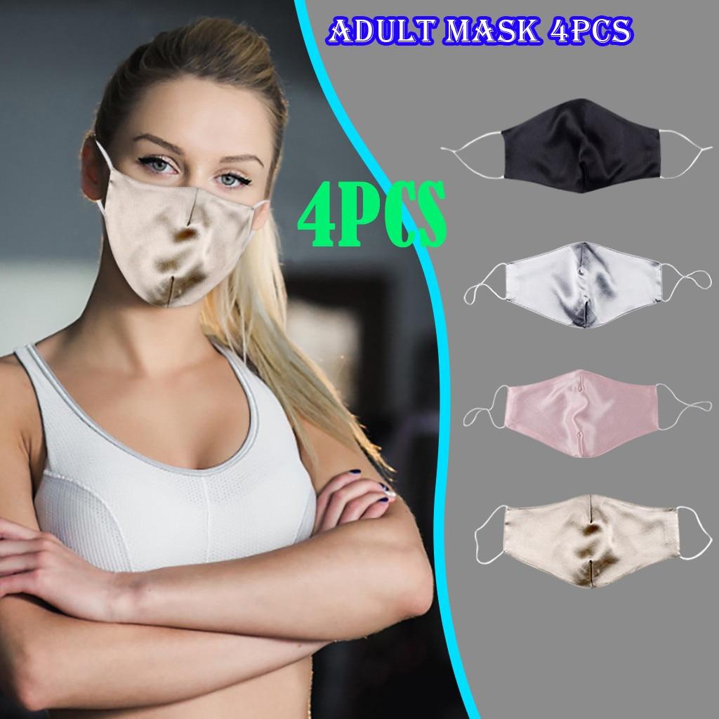 Маска из натурального шелка, трехслойная маска с УФ-защитой и шелковым принтом, дышащая маска для лица, Элегантная Шелковая модная маска # M