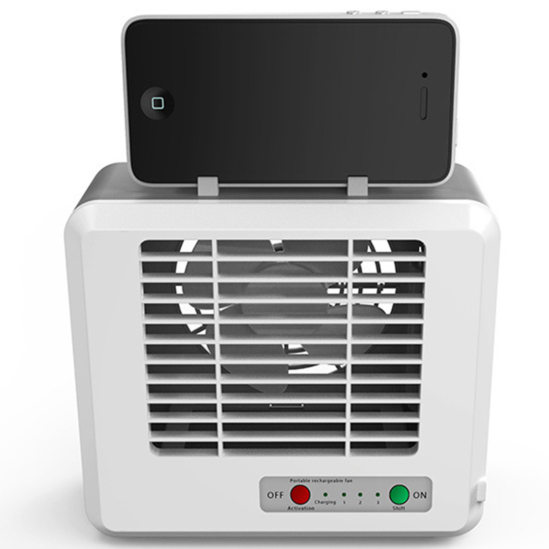Rechargeable <font><b>USB</b></font> Desktop Cooling <font><b>Fan</b></font> Lithium Battery Micro Air Cooler Ice Crystals Air Conditioning <font><b>Fan</b></font> image