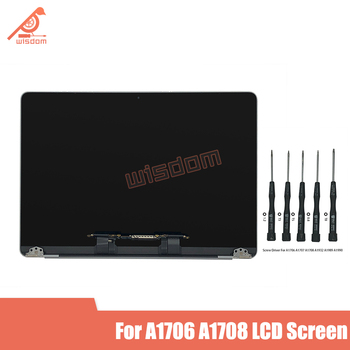 "Like New 13'' A1706 A1708 Silver Grey LCD Screen Display Assembly for Macbook Retina 13"" Full Complete LCD 2016 2017 Year"