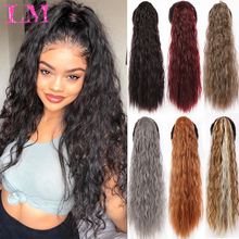 Hair-Extensions Ponytail-Hair Afro Kinky Drawstring Curly Brown Clip-In Black for Women