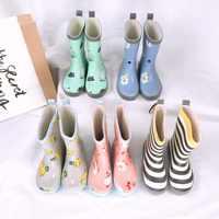 Celveroso Dzieci buty przeciwdeszczowe Dla Dzieci Dzieci dziewczyna Cute cartoon drukowane Dla Dzieci Kalosze Kalosze Dla Dzieci wodoodporna dziecko buty do wody