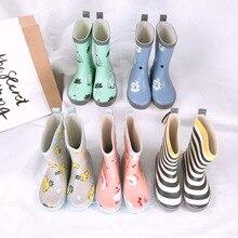 Celveroso احذية المطر الاطفال فتاة لطيف الكرتون المطبوعة الأطفال أحذية نصف رقبة من المطاط Kalosze Dla Dzieci للماء الطفل أحذية ماء