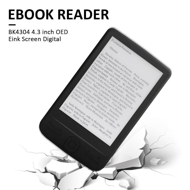 Delicate 4.3 inch E-Ink Ebook Reader 800x600 Ereader Electronic Paper Book with Front Light PU Cover Employee Benefits Gift New