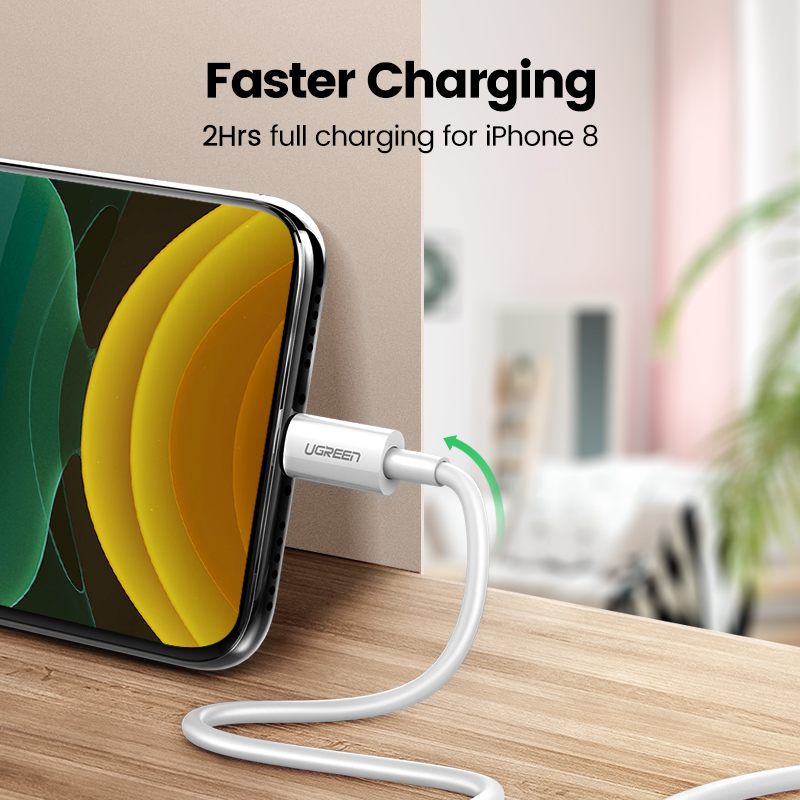 Καλώδιο USB Uv Green MFi για iPhone 11 X Xs Max 2.4A - Ανταλλακτικά και αξεσουάρ κινητών τηλεφώνων - Φωτογραφία 2