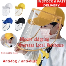 Children Multi-function Protective Cap Hat Eye Windproof Anti-saliva Isolation Face Cover Bacteria Proof in Stock