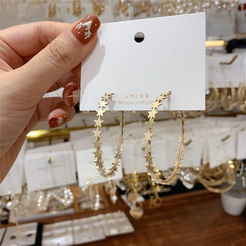 Женские большие серьги кольца mengjiqiao элегантные вечерние