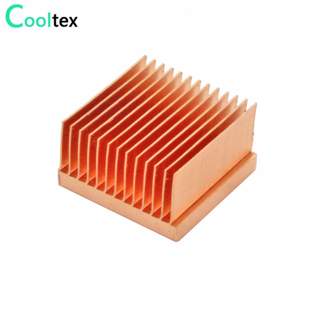 2 Pcs Murni Tembaga Heatsink 20X20X11 Mm Kecil Heat Sink Radiator untuk Raspberry Pi Elektronik Chip MOS IC 3D Printer Pendingin Cooler
