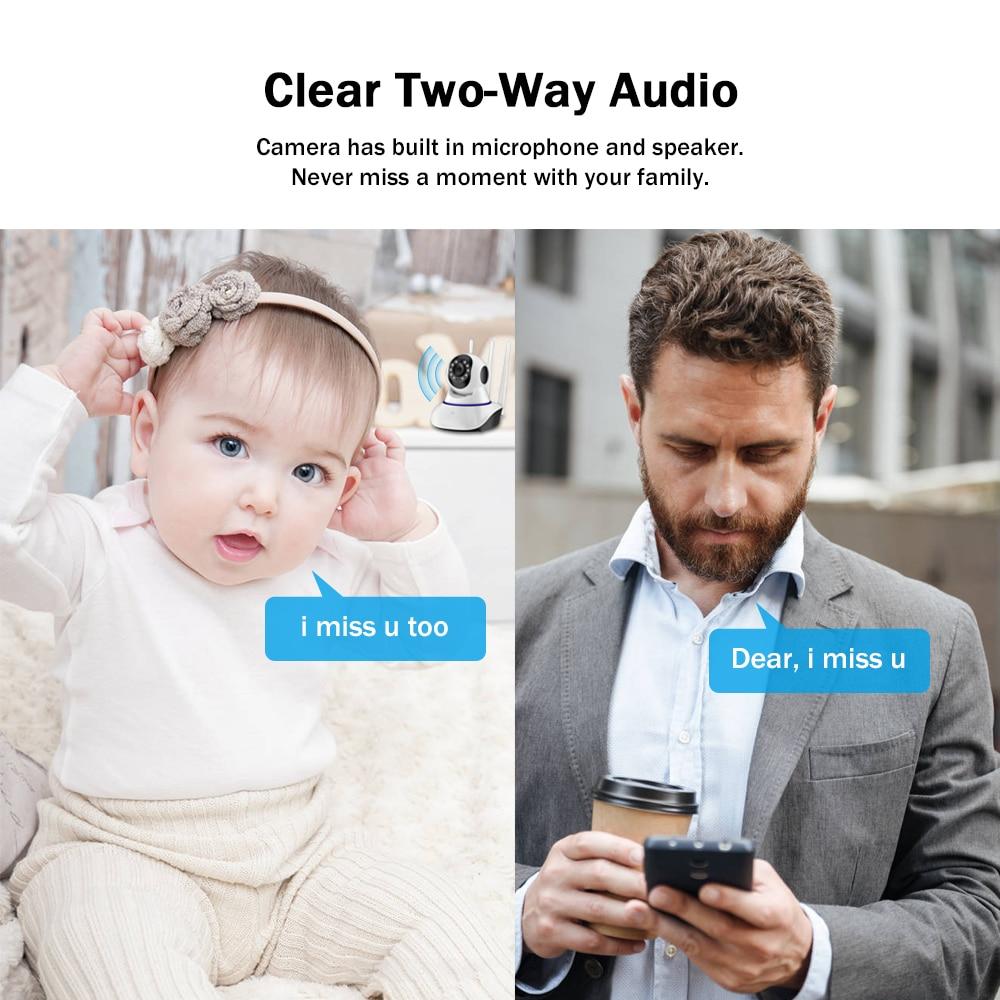 1080P Wifi PTZ IP Camera Wireless Baby Monitor