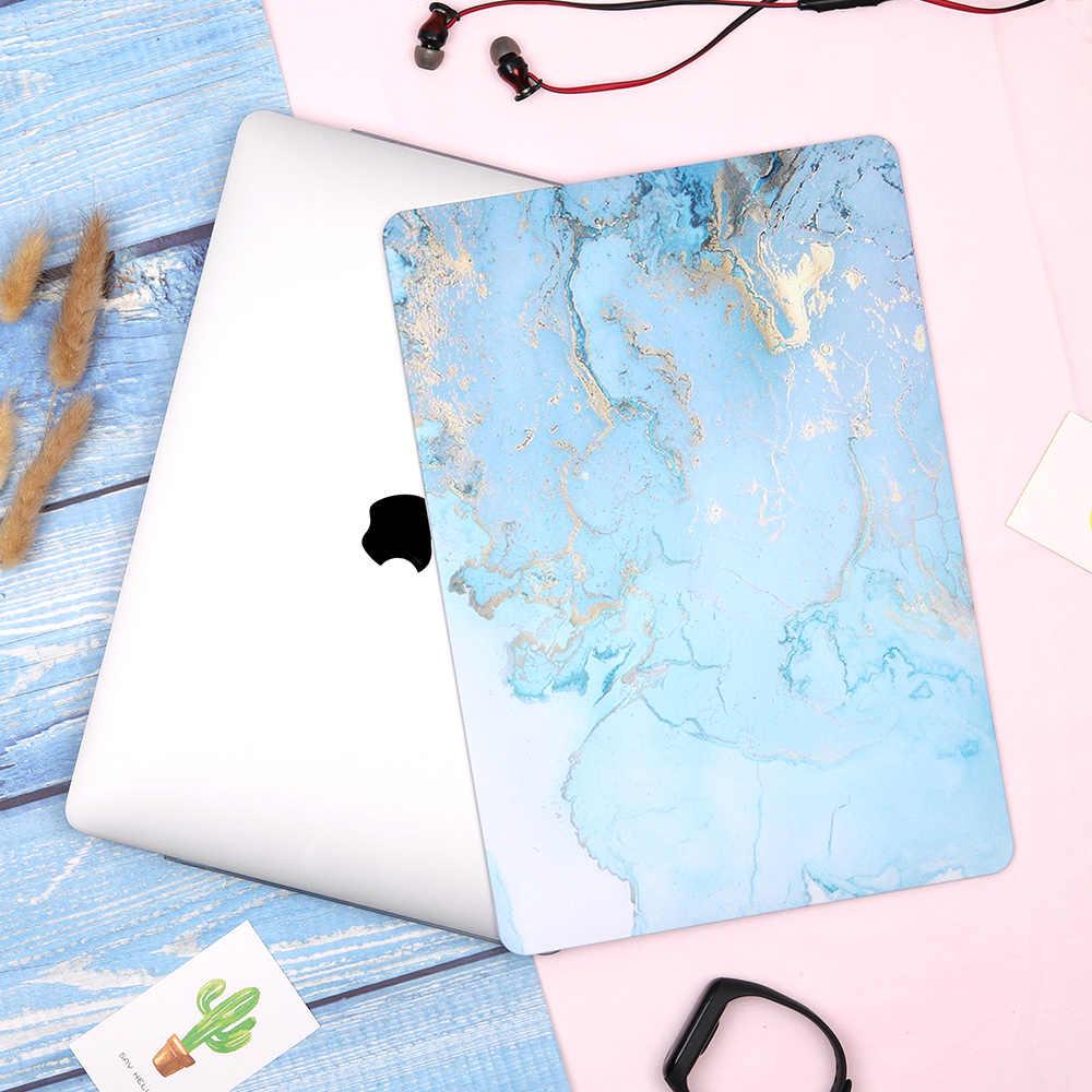 Redlai ordinateur portable étui pour macbook Air Pro Retina 11 12 13 15 pouces 2019 Air Pro 13 A1932 A2159 marbre coque rigide + housse de clavier