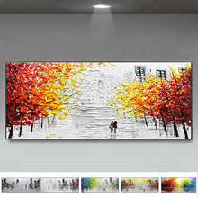 Hand painted large Landscape oil Painting city lover Acrylic Paint On Canvas Modern couple Wall Art Picture For Living Room rihe quiet street diy painting by numbers lover dog oil painting on canvas hand painted cuadros decoracion acrylic paint art