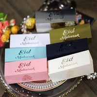 10 unids/set Eid Mubarak caja de dulces Eid Mubarak decoración decoraciones Ramadán para la casa el Islam musulmán fiesta suministros Kareem regalo Favor de Caja