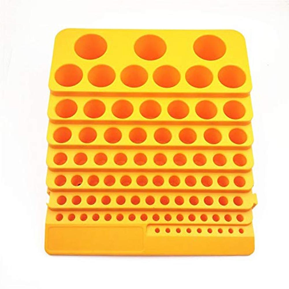 Portable Drill Bit Reamer Rack 85 Holes Storage Tool Box Organiser Plastic Accessories Milling Cutter Desktop Thickened