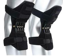 1 Pair Breathable Non-Slip Lift Joint Support Knee Pads Powerful Rebound Spring Force Knee Booster Knee Support Sports
