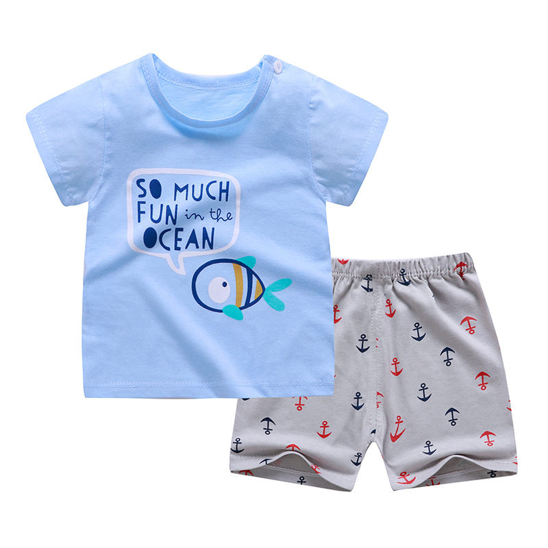 Boys Cartoon Animal T Shirt Cute Cotton T-shirt Short Sleeve Outfit  Boy Streetwear Clothes for Toddler Infant Kids Suit Summer 3