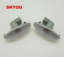 SKTOO-1 par de lámpara de señal de giro lateral del coche, repetidor Indicador de luz lateral, apto para Toyota Corolla Camry yeri