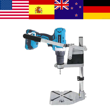 Electric Drill Stand Adjustable Single-head Drill Holder Bracket Bench Drill Chuck Press Stand DIY Tool Power Tools Accessories