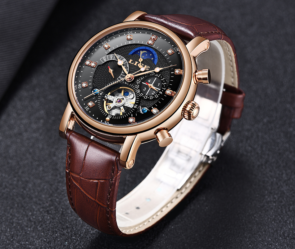Hed2278e6a759471abceba37d2b1406adp LIGE Gift Mens Watches Brand Luxury Fashion Tourbillon Automatic Mechanical Watch Men Stainless Steel watch Relogio Masculino
