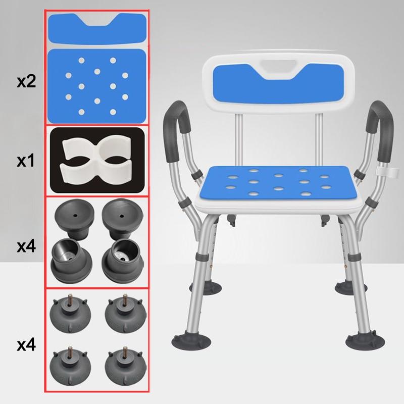 Bathroom Seat Toilet-Stool Shower Squat Elderly for Anti-Skid Adjustable