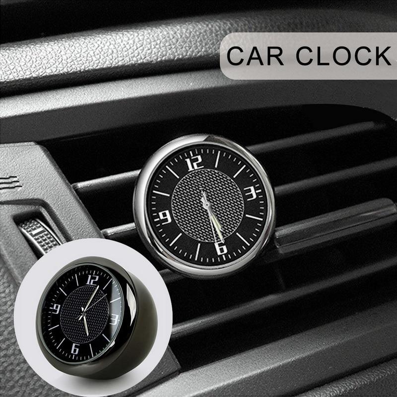 Car Clock Watch Modified Car Interior Electronic Quartz Watch Car Decoration customize logo For BMW Honda Benz VW