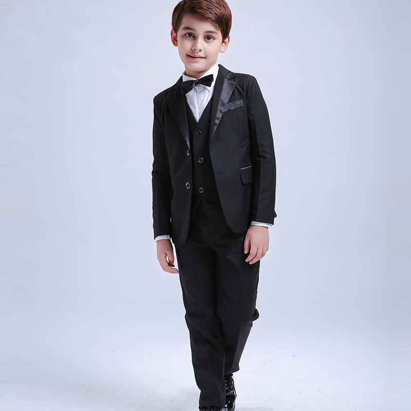 Top Grade Korean-style CHILDREN'S Business Suit BOY'S Formal Dress Flower Boys/Flower Girls Performance Host Suit Europe And Ame
