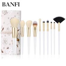 купить Makeup Brushes 10pcs/Set Powder Face Blush Foundation Contour Eye Lip Makeup Cosmetic Brush Kit по цене 185.62 рублей